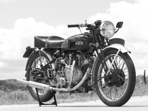"TODAYS CLASSIC BIKE - The 1946 Vincent ""1X"" Rapide B Prototype was the first Vincent made after World War II. After its debut, the British government commissioned the retooling of the engine for use on a military speedboat"