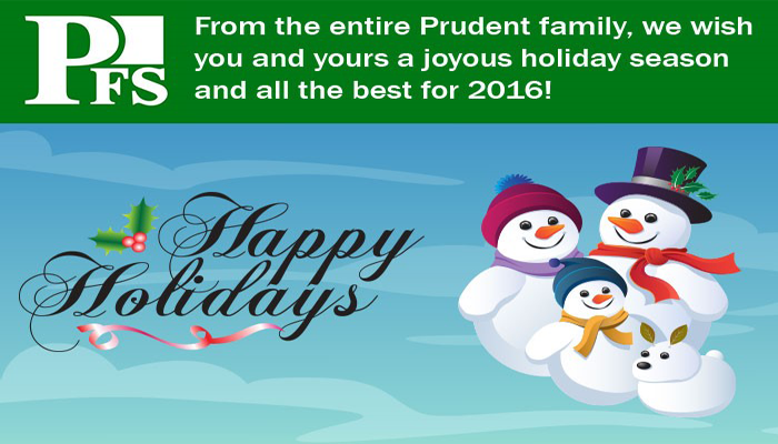 Happy Holidays from Prudent